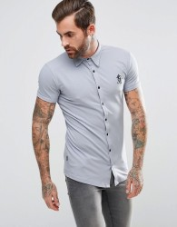 Gym King Muscle Shirt In Grey - Grey