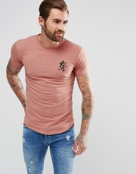 Gym King Muscle T-Shirt In Rust - Red
