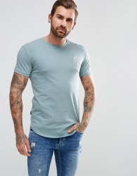 Gym King Muscle T-Shirt In Teal Blue - Blue