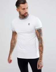 Gym King Muscle Tipped T-Shirt In White - White