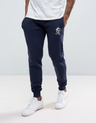 Gym King Skinny Fit Joggers In Navy - Navy