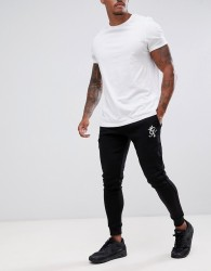 Gym King skinny joggers in black with logo - Black