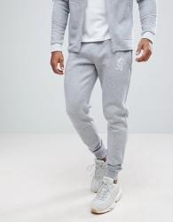 Gym King Skinny Joggers In Grey Marl - Grey