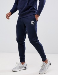 Gym King skinny joggers in navy with logo - Navy