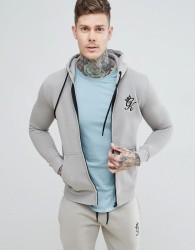 Gym King Tracksuit Top in Rock - Grey