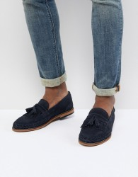 H By Hudson Alloa Suede Loafers In Navy - Navy