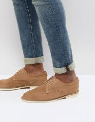 H By Hudson Andover Suede Lace Up Shoes In Sand - Stone