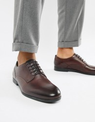 H By Hudson Axminster formal shoes in wine leather - Red