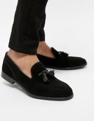 H By Hudson Aylsham Suede Loafers In Black - Black