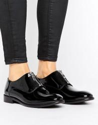 H by Hudson Flat Zip Front Shoes - Black