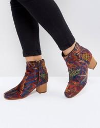 H by Hudson Garnett Liberty Velvet Mid Ankle Boot - Red