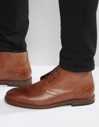 H By Hudson Houghton Leather Chukka Boots - Brown