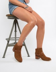 H By Hudson Leather Ankle Boots - Tan