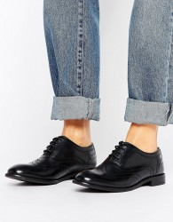 H by Hudson Leather Brogue Shoes - Black