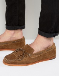 H By Hudson Manuel Suede Loafers - Tan