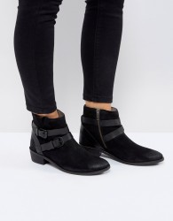 H by Hudson Meeya Suede Ankle Boots - Black