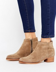 H by Hudson Mid Heel Leather Festival Boot - Beige