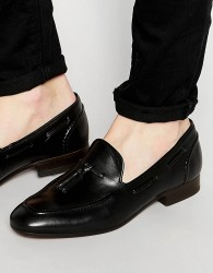 H By Hudson Pierre Leather Loafers - Black