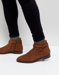 H London Cutler Suede Chelsea Boots In Tan - Tan