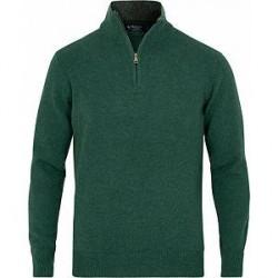 Hackett Lambswool Half Zip Green