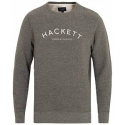 Hackett Mr Classic Crew Neck Sweatshirt Dark Grey Marl