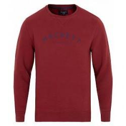 Hackett Mr Classic Crew Neck Sweatshirt Red