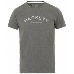 Hackett Mr Classic Crew Neck Tee Dark Grey Marl