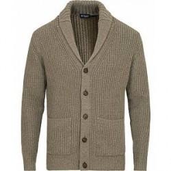 Hackett Shawl Collar Cardigan Grey