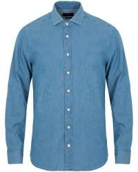 Hackett Slim Fit Vintage Denim Shirt Light Wash
