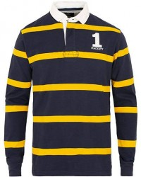 Hackett Stripe Rugby Navy/Yellow