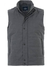 Hackett Water Repelent Wool Gillet Charcoal men L