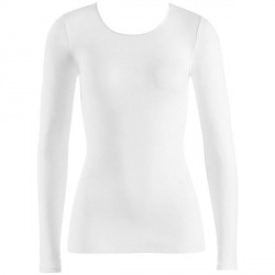 Hanro Cotton Seamless Long-Sleeved Top - White * Kampagne *