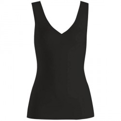 Hanro Cotton Seamless Tank Top - Black * Kampagne *