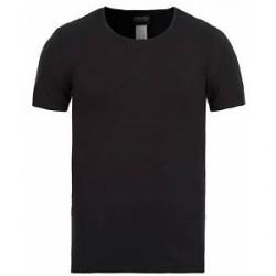 HANRO Cotton Superior C-Neck T-Shirt Black