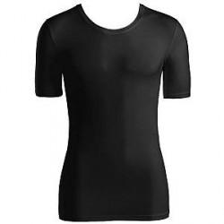 Hanro Cotton Superior Short-sleeved Shirt - Black - Medium