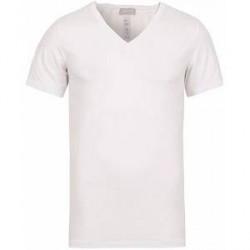 HANRO Cotton Superior V-Neck T-Shirt White
