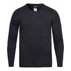 Hanro Long Sleeve Wool/Silk Tee Antracite