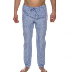 Hanro Night And Day Long Pant - Blue Pattern * Kampagne *