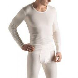 Hanro Woolen Silk Long-sleeved Shirt - White - Medium
