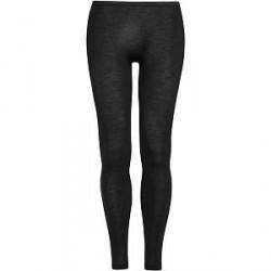 Hanro Woolen Silk Longleg Black - Black - Small