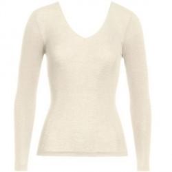 Hanro Woolen Silk Ls Shirt 263 - Ivory * Kampagne *