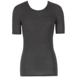 Hanro Woolen Silk Short-sleeved Shirt - Black * Kampagne *