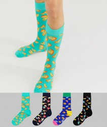 Happy Socks 4 pack Junk Food gift box - Multi