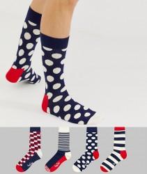 Happy Socks 4 pack stripe gift box - Multi