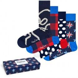 Happy socks 4-pak Nautical Gift Box - Mixed * Kampagne *