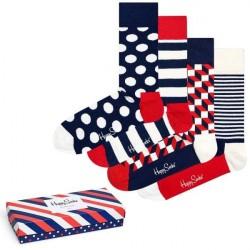 Happy socks 4-pak Stripe Socks Gift Box - Mixed * Kampagne *
