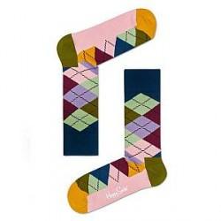 Happy Socks Argyle Sock - Pink Pattern - Str 36/40