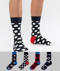 Happy Socks Socks 4 Pack Gift Set in Nautical - Multi