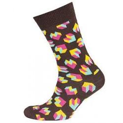 Happy Socks Steps Sock - Brown pattern - Str 36/40 * Kampagne *