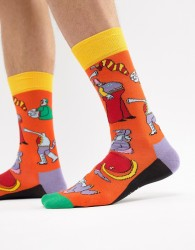 Happy Socks x The Beatles Yellow Submarine Socks - Orange